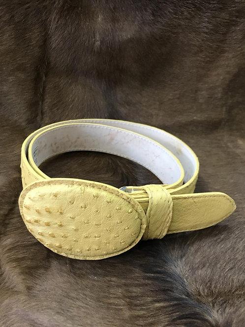 Ostrich skin Belt (Butter)