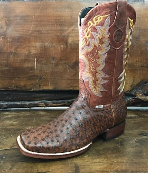 """The Outrider"" in Full Quill Ostrich (Marble Brown)"