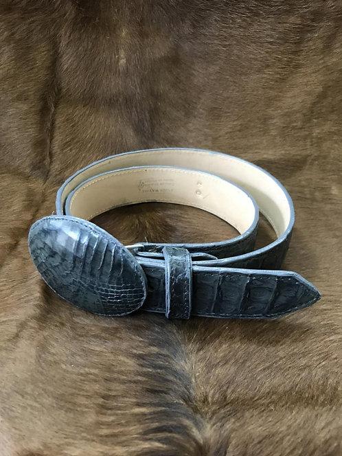 Caiman Skin Belt (Grey)