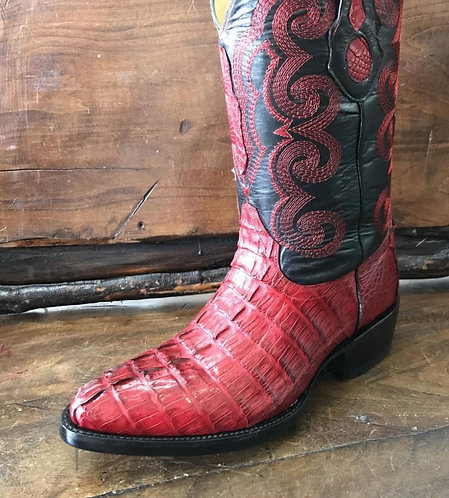 """The Trail Boss"" in Caiman Tail (Red)"