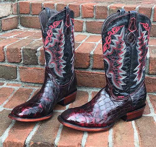 """""""The Dallas"""" in American Alligator (Black Cherry)"""