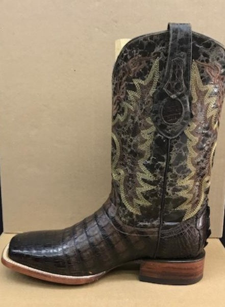 """The Outrider"" in Caiman Belly (Brown)"