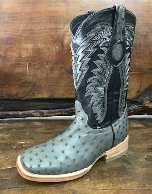 """The Outrider"" in Full Quill Ostrich (Grey)"