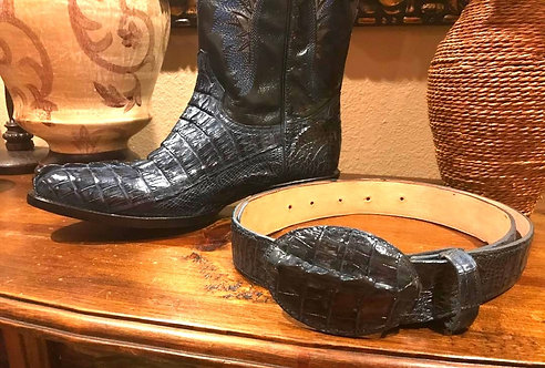 Caiman Skin Belt (Match To Boot Color)