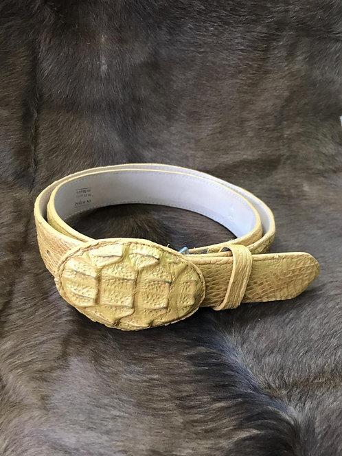 Caiman Skin Belt (Butter)