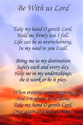 Be with us Lord