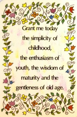 Grant me today