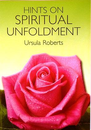 Hints on Spiritual Unfoldment