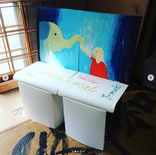 アートイベントに強化素材の椅子を協賛しました