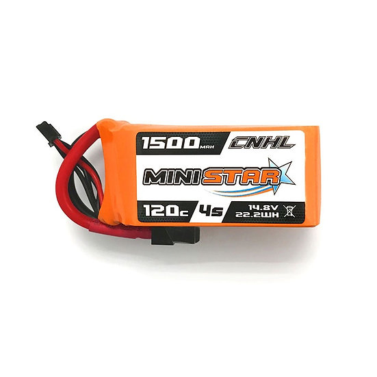 CNHL MiniStar 1500mAh 4S 14.8V 120C Lipo Battery
