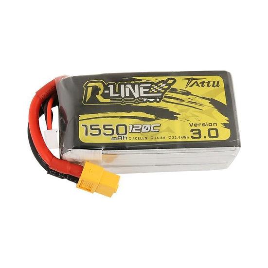 TATTU R-LINE VERSION 3.0 14.8V 4S 1550MAH 120C LIPO BATTERY - XT60