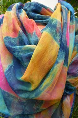 silk chiffon wrap