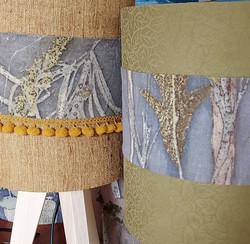 Lampshades botanical print and dye