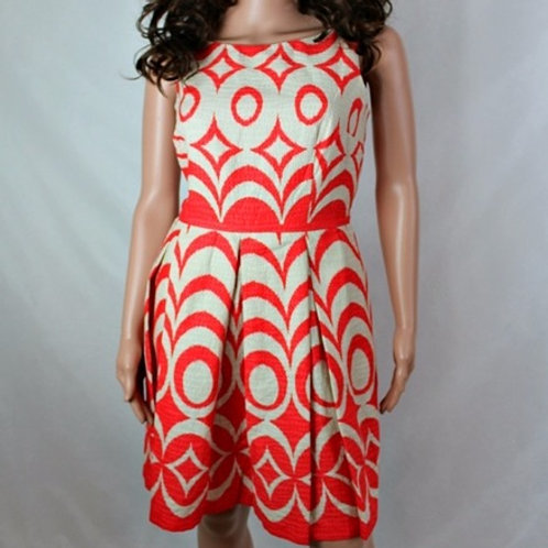 PRINTED PLEATED DRESS