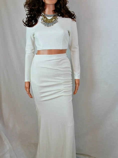 2 PIECE CROP TOP AND MAXI SKIRT SET