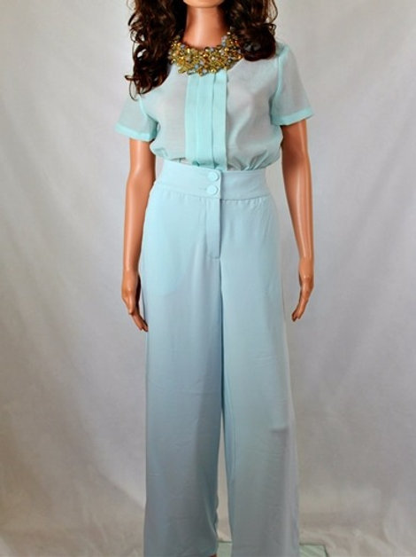 HIGH WAIST PANT WITH WIDE LEG