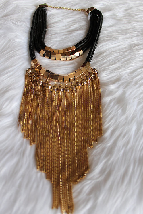 ROPE AND FRINGE NECKLACE