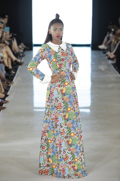 FLORAL EMBROIDERED DRESS BY LENSHINA NCHAMI