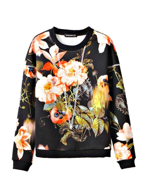 MULI COLOR PRINT SWEATSHIRT