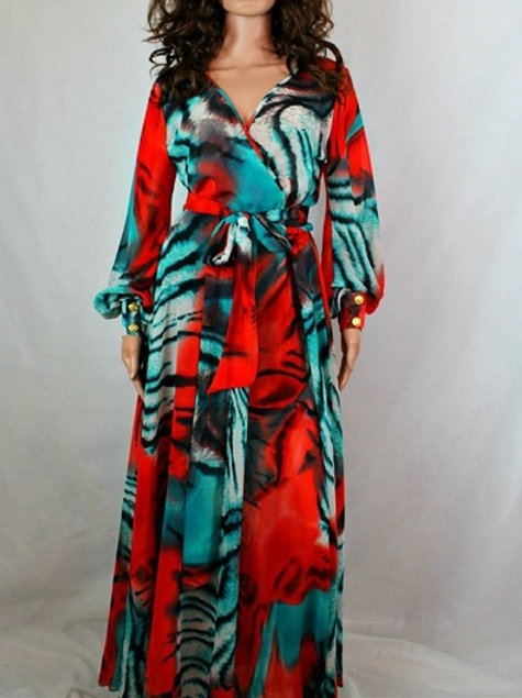 CHIFFON SURPLICE DRESS
