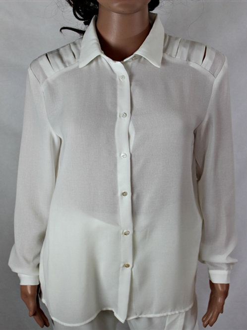 SHIRT WITH BACK CUT OUT AND SHOULDER DETAIL