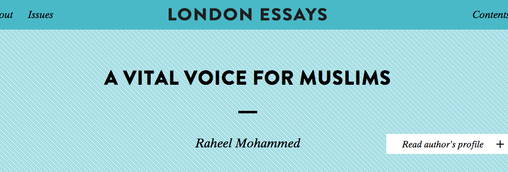 London Essays: A Vital Voice for Muslims