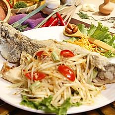 酥炸木瓜魚  300