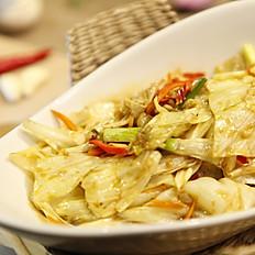 蝦醬高麗菜  80  /  辣炒高麗菜  75
