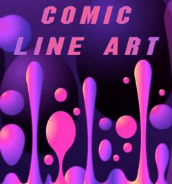 COMIC LINE ART, Graphic & Design