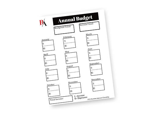 Annual Budget Tracker