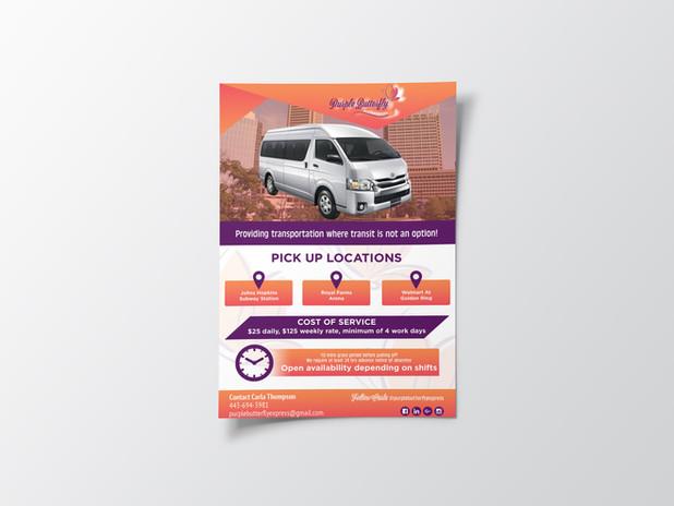 Purple Butterfly Express Promo Flyer
