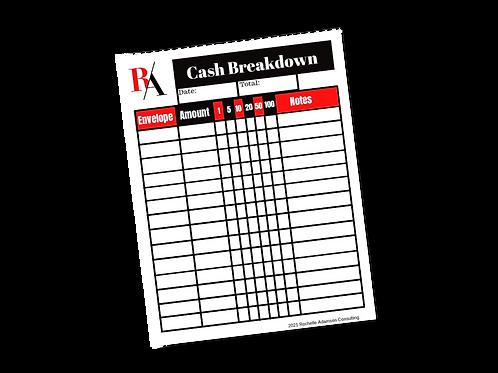 Cash Breakdown Tracker