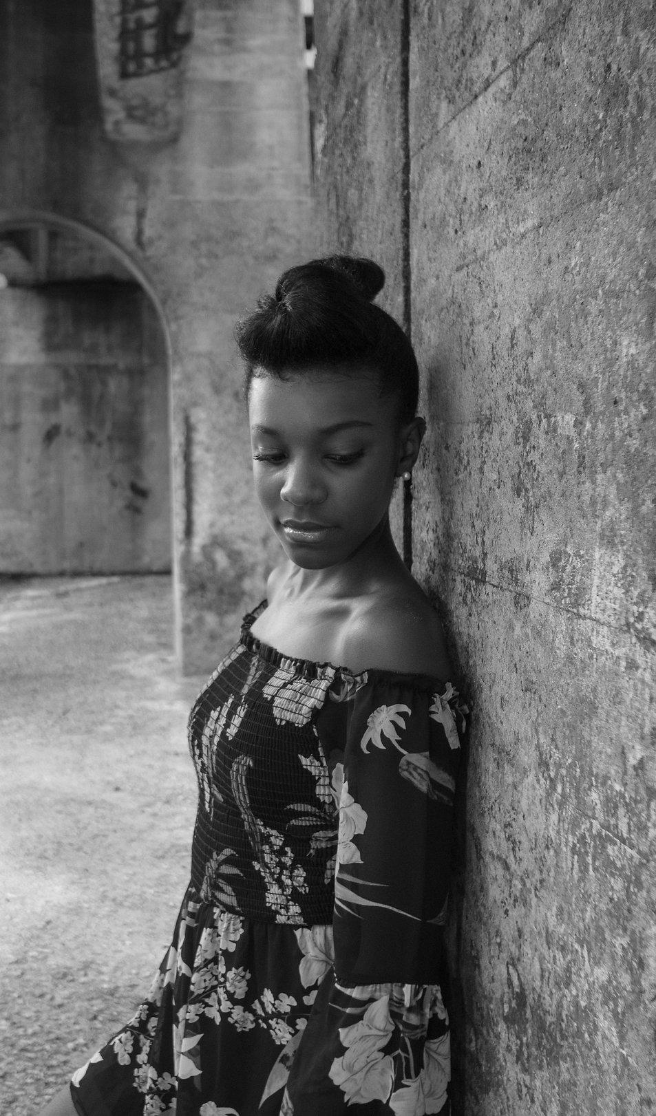 black, black girl, african american, photography, black photographer, color,model, blackmodel, black female model, winstonsalem, pearls, teenager, black teenager, dancinggrass, dancinggrassstudios, dgs, blackgirlmagic, industrial, downtown, dtwsnc, baileypark, innovationquarters, outside, natural, naturalhair, androgynous