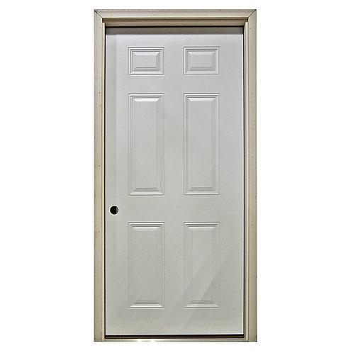 "34x80 6 panel RH I/S 4 5/8"" CLEAR PINE FRAME"