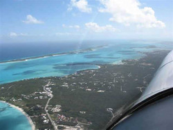 Bahama Islands from the air