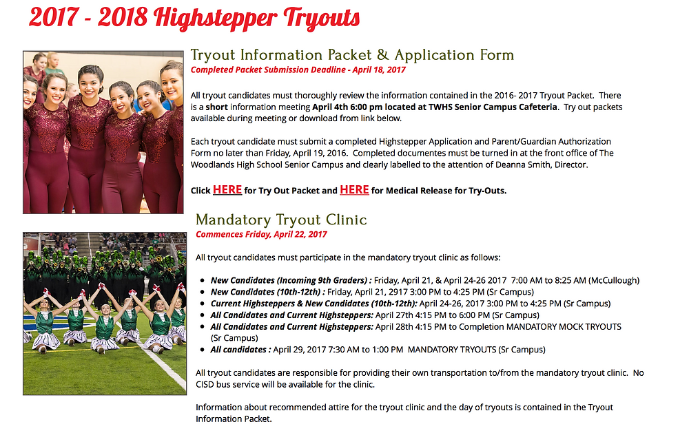Tryouts 2017-2018 Team