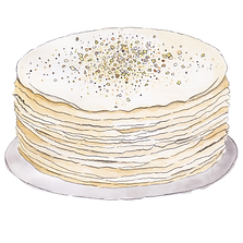 An absolute favourite Matcha flavour, layered with Japanese Green Tea (Matcha) whipped cream in between crêpes and topped with good quality of Matcha powder