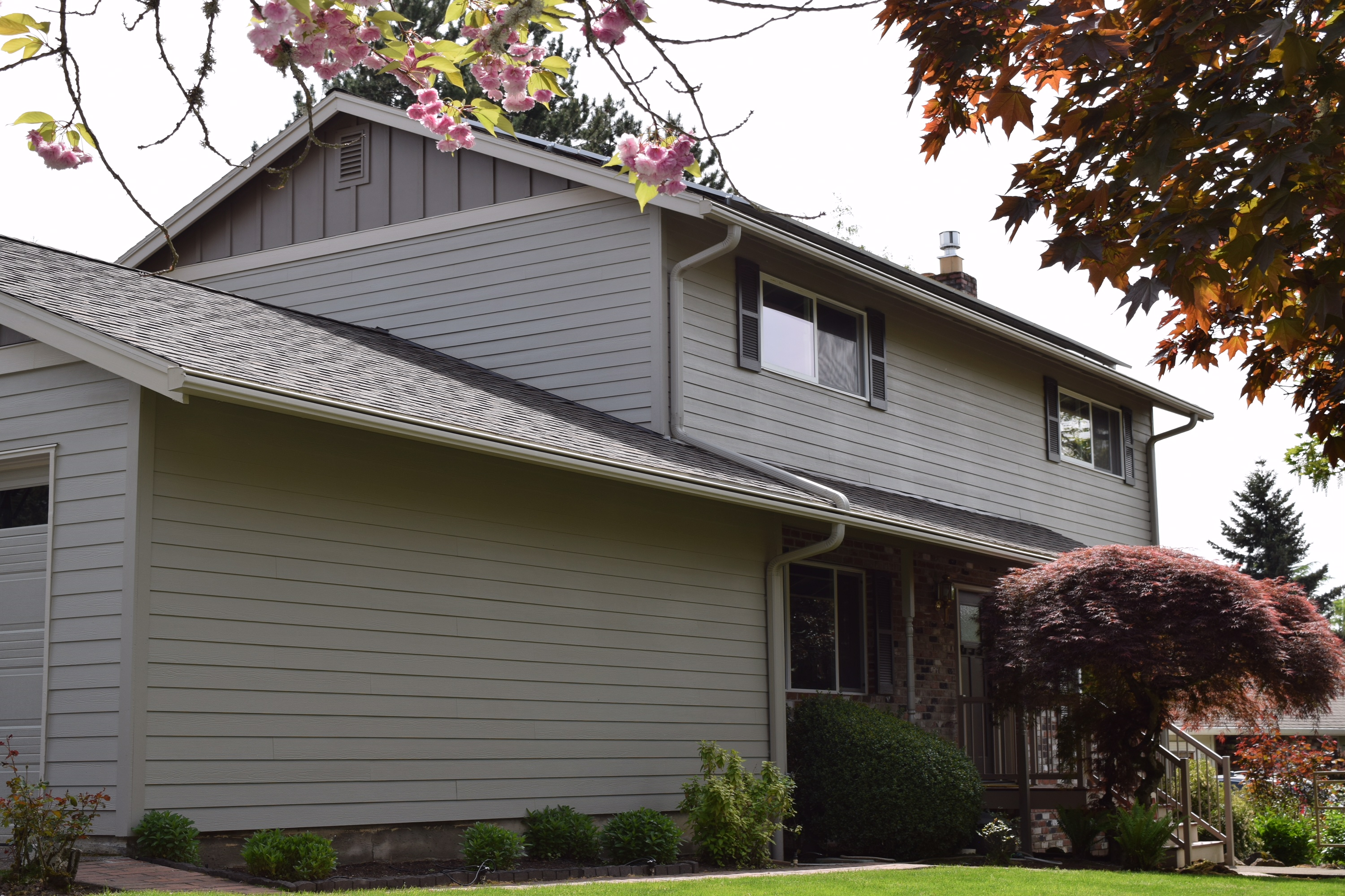 New siding on a home in Beaverton