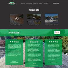 Marcano Roofing Website Design