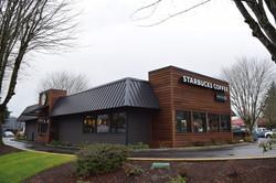 Exterior remodel of Starbucks