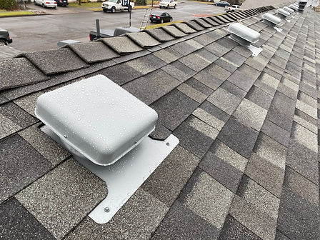 New roof ventilation installed by Marcano Roofing Contractor in Salem Oregon