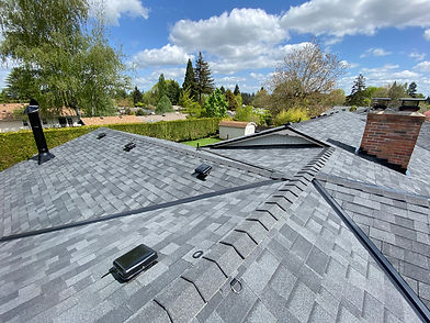 A Commercial Roof and Residential Roof installed by Marcano Roofing Contractor in Salem Oregon