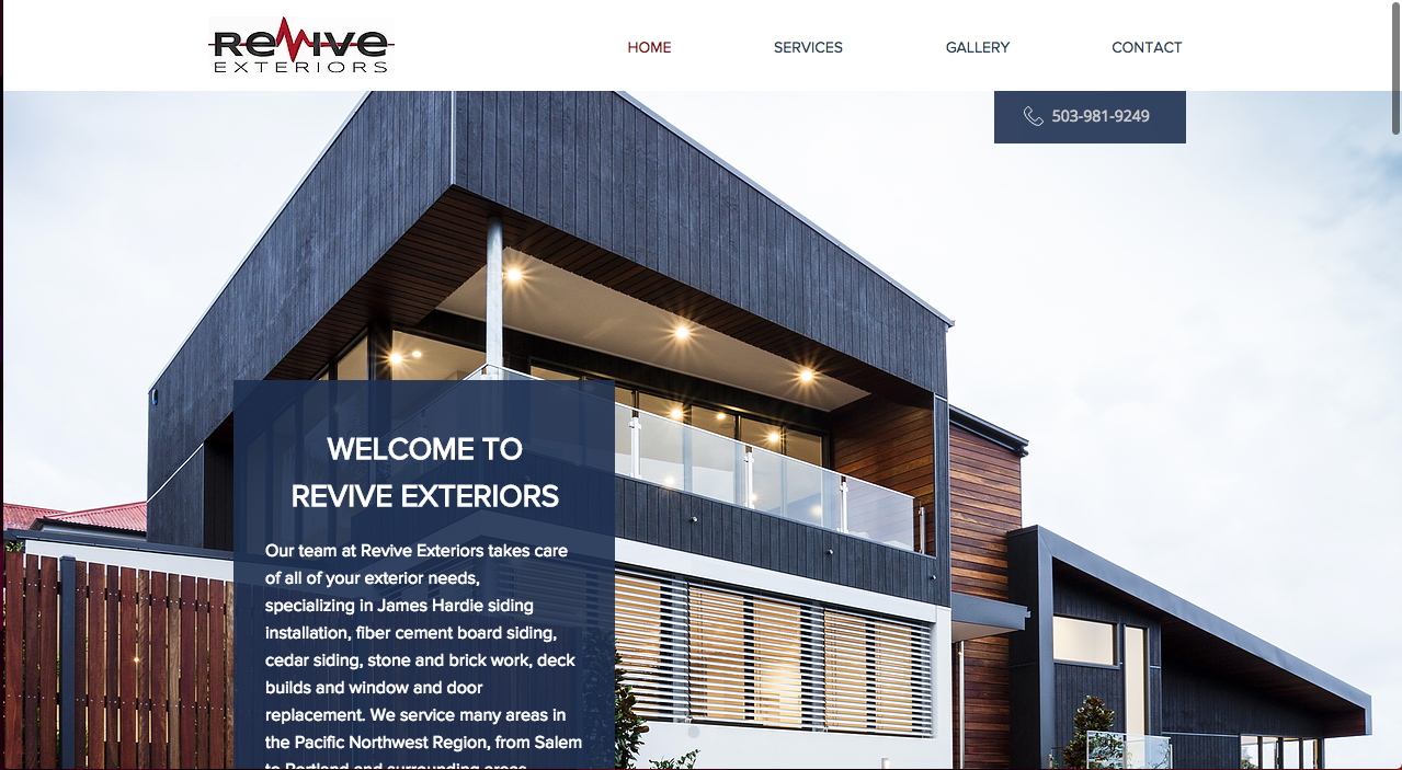 Client Website: Revive Exteriors