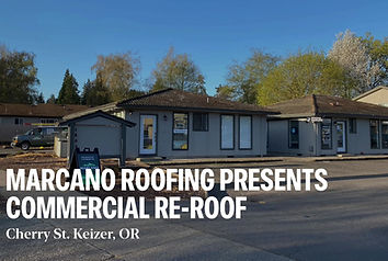 A new commercial Roof in Salem Oregon installed by Marcano Roofing
