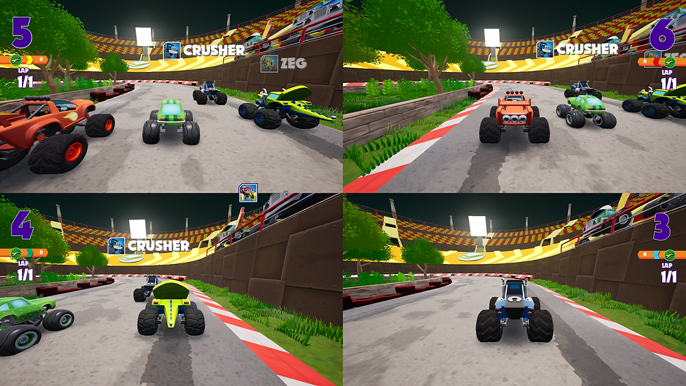 A fun family racer that can be played locally