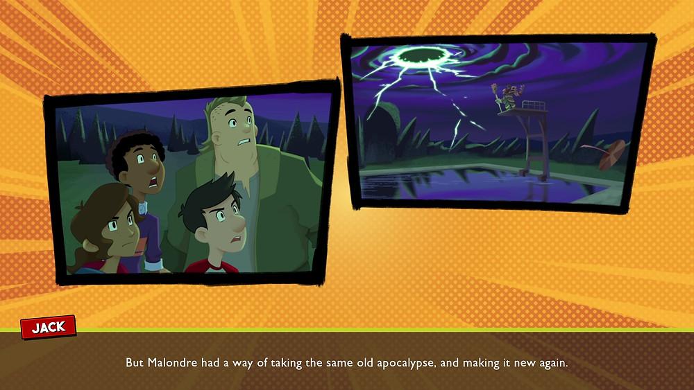 Cool comic-style cutscenes drive the story forward