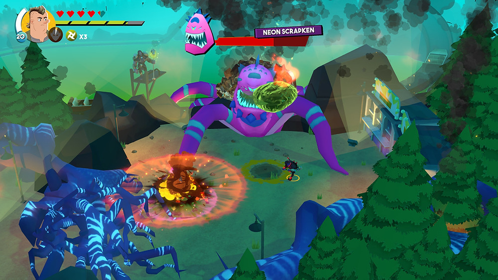 Boss battles are fun and feature some crazy enemy designs