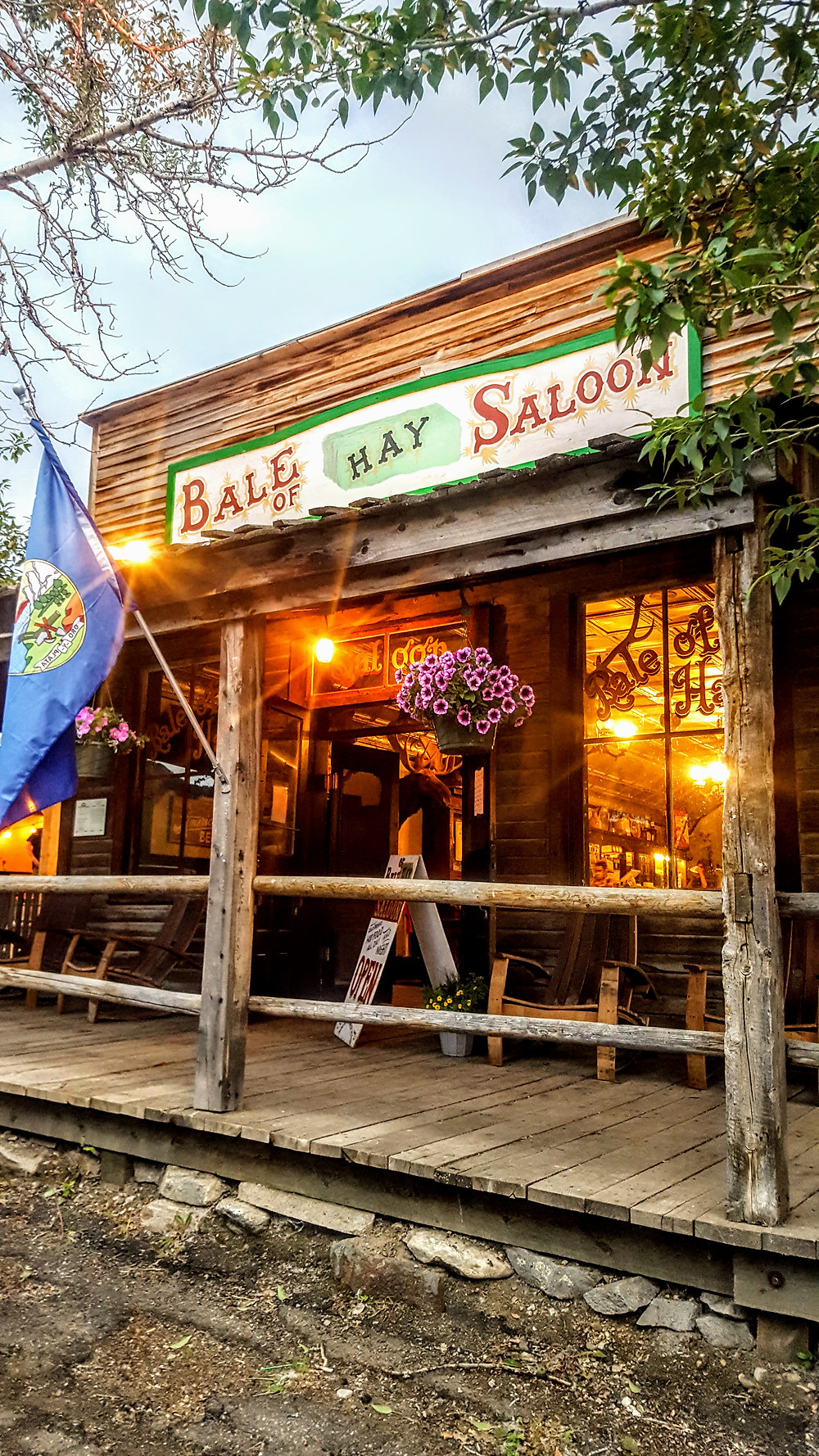The Bale of Hay Saloon, Montana's oldest bar and drinking establishment.