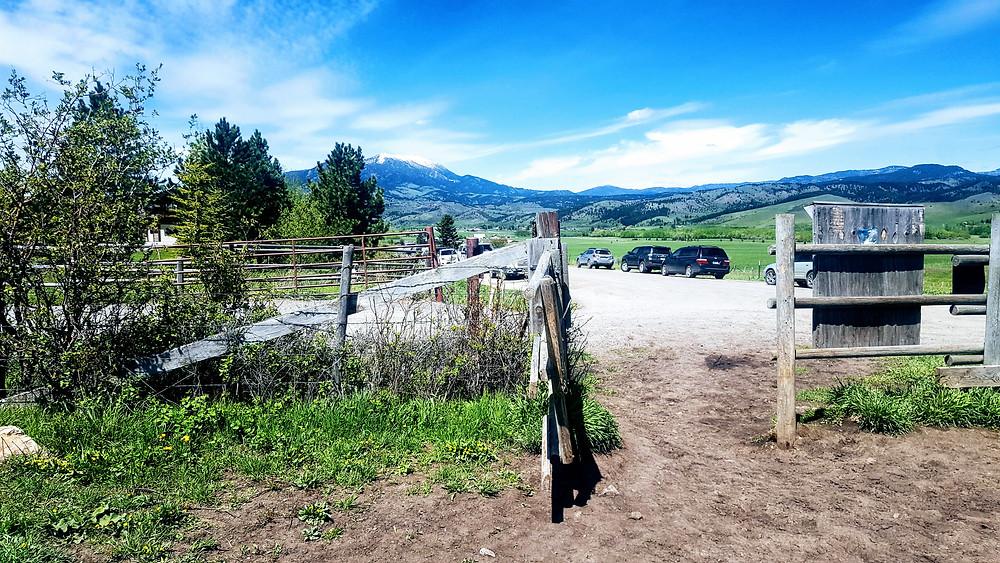 Trail access to a hike near downtown Bozeman
