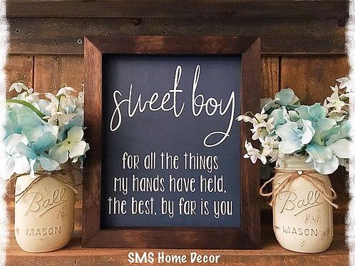 Sweet Boy - Sweet Girl - Wood Sign
